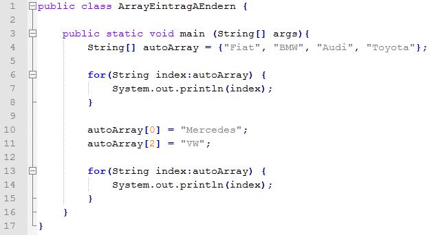 zweidimensionales array java length